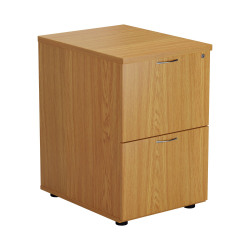 Jemini Nova Oak 2 Drawer Filing Cabinet TES2FCNO