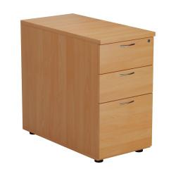 Jemini Beech 3 Drawer Desk High Pedestal 800 V2 TESDHP3/800BE2