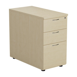 First Desk High 3 Drawer Pedestal 800mm Deep White KF79932