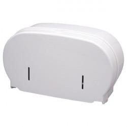 2Work Micro Twin Toilet Roll Dispenser Cored To Coreless White DIS840