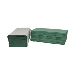 2Work 1-Ply I-Fold Hand Towels Green (Pack of 3600) 2W70105