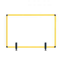 Bi-Office Protector Desktop Board 3mm 1040x700mm Yellow GL34019401