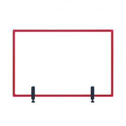 Bi-Office Protector Desktop Board 3mm 1040x700mm Red GL34019201