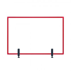 Bi-Office Protector Desktop Board 3mm 1200x900mm Red GL08019201