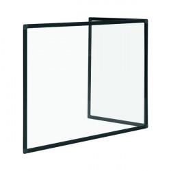 Bi-Office Duo Glass Board 1200x900 3mm Black GL08209001