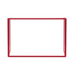 Bi-Office Trio Transparent Board 900x600/2 3mm Red GL07219201