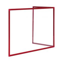 Bi-Office Duo Acrylic Board 900x600mm Maya Red Alum Frame AC03209111