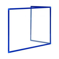 Bi-Office Duo Acrylic Board 1200x900mm Maya Blue Frame AC03209121