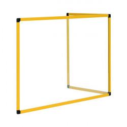 Bi-Office Duo Acrylic Board 900x600mm Maya Yellow Frame AC03209131