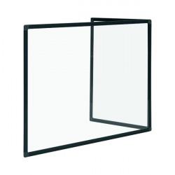Bi-Office Duo Acrylic Board 900x600mm Maya Black Frame AC03209151