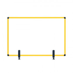Bi-Office Protect Desktop Acrylic Board Ylw Frame 1040x700 AC23019131