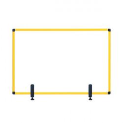 Bi-Office Protect Desktop Acrylic Board Ylw Frame 1200x900 AC05019131