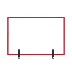 Bi-Office Protect Desktop Acrylic Board Red Frame 1040x700 AC23019111