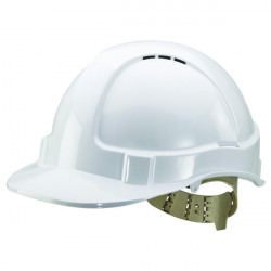 Comfort Vented Safety Helmet White BBVSHW
