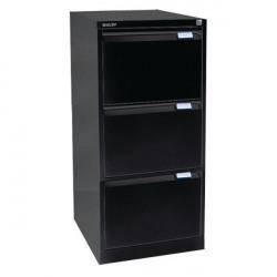 Bisley 3 Drawer Filing Cabinet Flush Fronted Black BS3E BLACK
