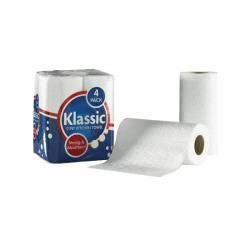 Klassic 2-Ply Kitchen Roll White (6 Packs of 4 Rolls) 1105090