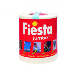 Fiesta White Jumbo Kitchen Roll 600 Sheets 5604400
