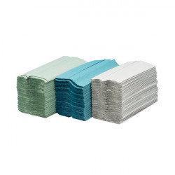 Maxima Green C-Fold Hand Towel 2-Ply White (Pack of 15)x160 Sheets KMAX5052