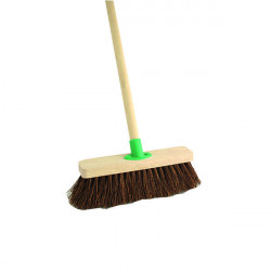 Stiff Bassine Broom with Handle 12 Inch VOW/F.10/BKT/C4