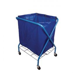 Folding Waste Cart With Vinyl Bag MWFWCS01L
