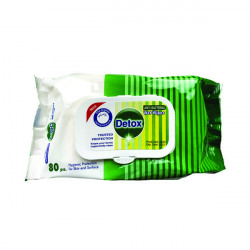 Detox Anti Bacterial Wipes Pine (Pack of 80) Detox 80 Pine