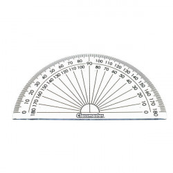 Classmaster 180 Degree Protractor Clear (Pack of 10) 899595