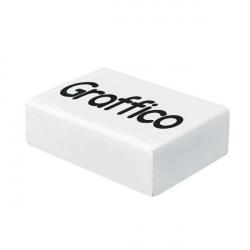Graffico Plastic Eraser White (Pack of 45) EN05992