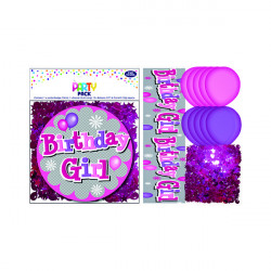 Birthday Girl Party Pack Pink (Pack of 6) 13704-PP