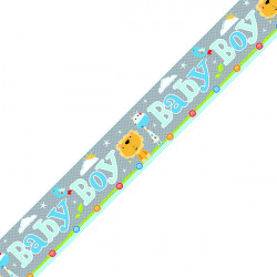 Baby Boy Banner Blue/Grey (Pack of 6) 6837-BBB-1