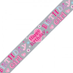 Birthday Girl Banner Pink (Pack of 6) 6837-HBG-2