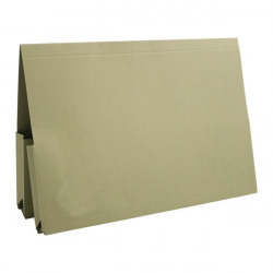 Exacompta Guildhall Legal Double Pocket Wallet Foolscap Green (Pack of 25) 214-GRN