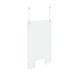 Exacompta Sneeze Guard Suspended With Fixation Kit 95x68cm