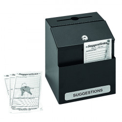 Safco Locking Suggestion Box Black 4232BL