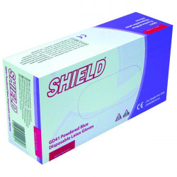 Shield Powdered Latex Gloves Large Blue (Pack of 100) GD41