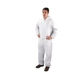 Non-Woven Coverall XLarge 46-50 Inch White DC03