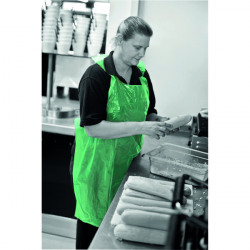 Apron on a Roll LDPE Polythene Green (Pack of 1000) A2G/R