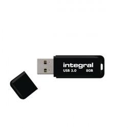 Integral Black Noir USB 3.0 8Gb Flash Drive INFD8GBNOIR3.0