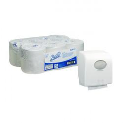 Scott Control 1Ply White Hand Towel Roll 250m (Pack of 6) FOC Aquarius Hand Towel Dispenser KC832090