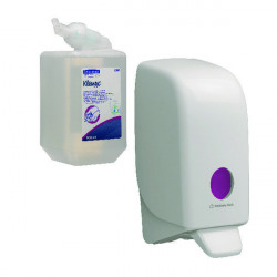 Scott Luxury Foam Hand Cleanser Cassette 1L (Pack of 6) FOC Aquarius Sanitiser Dispenser KC832091