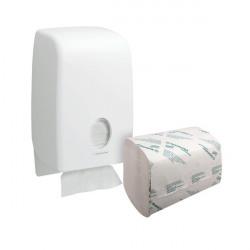 Scott Performance 1 Ply Hand Towels White (Pack of 3180) FOC Aquarius Dispenser KC832092