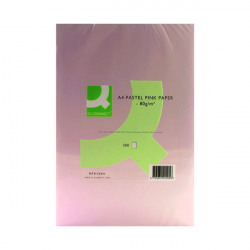 Q-Connect Pink Coloured A4 Copier Paper 80gsm Ream (Pack of 500) KF01095