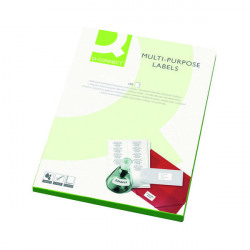 Q-Connect Multipurpose Labels 38.1x21.2mm 65 Per Sheet White (Pack of 6500) KF01130