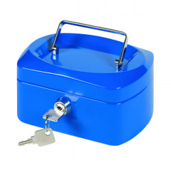 Q-Connect Cash Box 6 Inch Blue KF02608