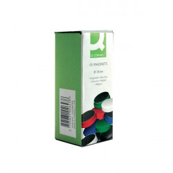 Q-Connect Round Magnet 25mm Assorted (Pack of 10) KF02643