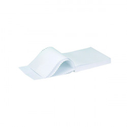Q-Connect 11x9.5 Inches 2-Part NCR White and Pink Plain Listing Paper (Pack of 1000) KF02708