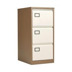 Jemini 3 Drawer Filing Cabinet Coffee/Cream KF03004