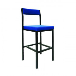 Jemini High Stool with Back Rest Blue PS4044