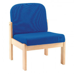 Arista Blue Beech Veneer Reception Seat PS1346