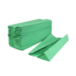2Work 1-Ply C-Fold Hand Towels Green (Pack of 2880) HC128GRVW