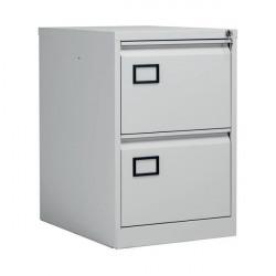 Jemini Light Grey 2 Drawer Filing Cabinet (Dimensions: W470 x D622 x H711mm) KF20042